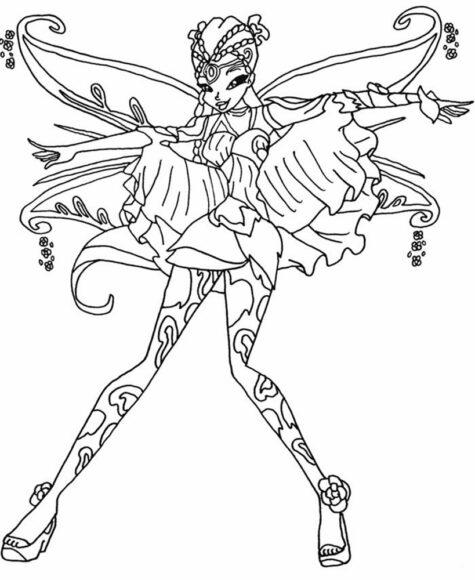 Mẫu hình tập tô công chúa Winx