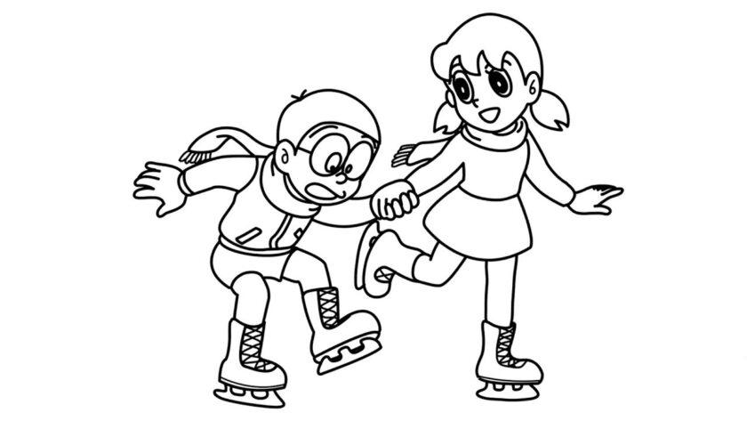 Mẫu hình tập tô Nobita và Shizuka