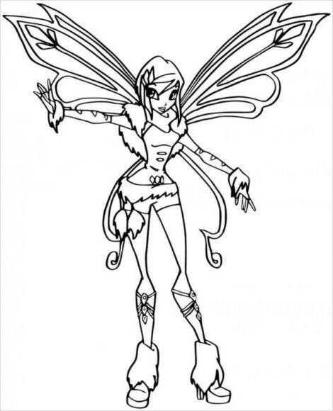 Mẫu tập tô công chúa Winx
