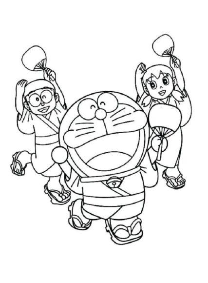 Mẫu tranh tô màu Nobita