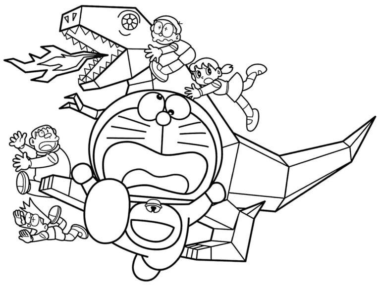 Mẫu vẽ tập tô Nobita