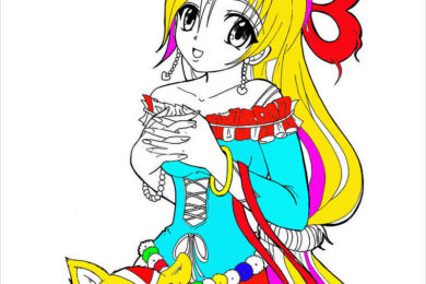 Tranh tô màu anime
