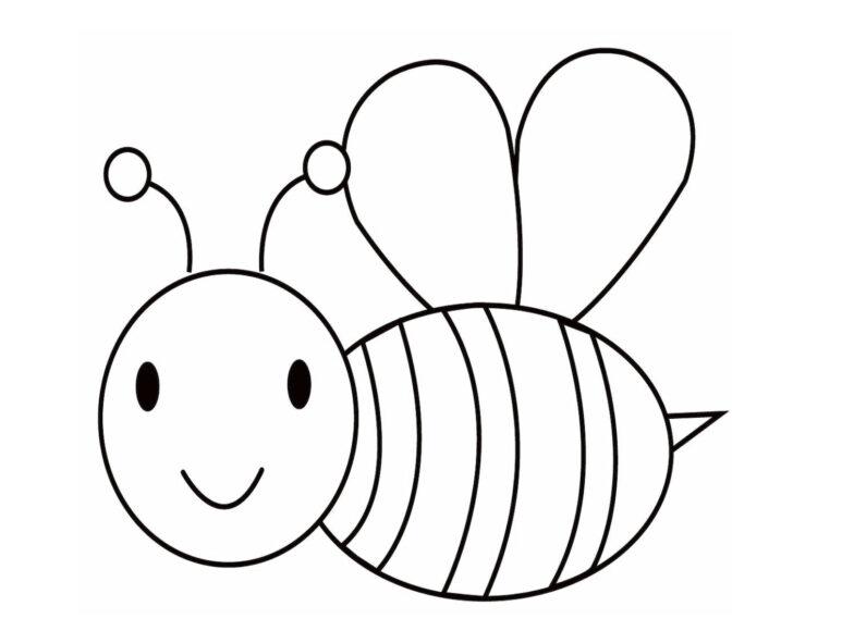 Tranh tô màu cho bé 3 tuổi hình con ong