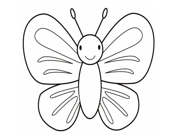 Tranh tô màu con bướm dành cho bé 3 tuổi