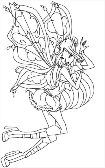Tranh tô màu công chúa Winx đẹp nhất