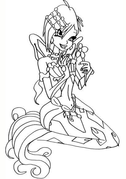 Tranh tô màu công chúa Winx với sức mạnh công nghệ