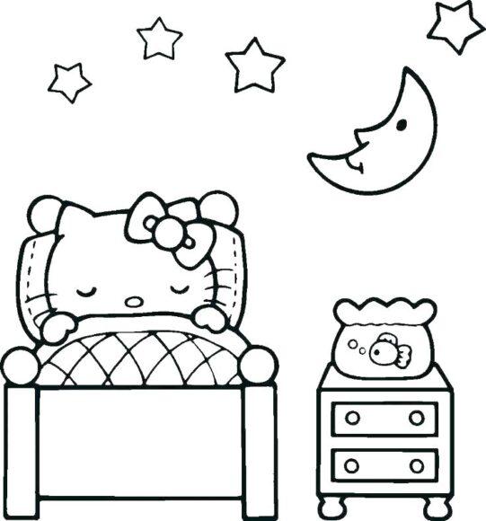 Tranh tô màu Hello Kitty và những giấc mơ đẹp