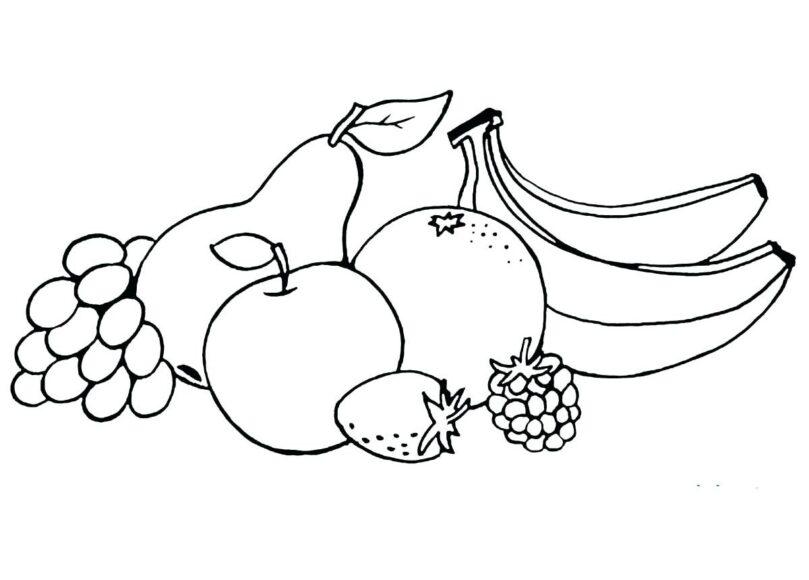 Tranh tô màu hoa quả dành cho bé 3 tuổi