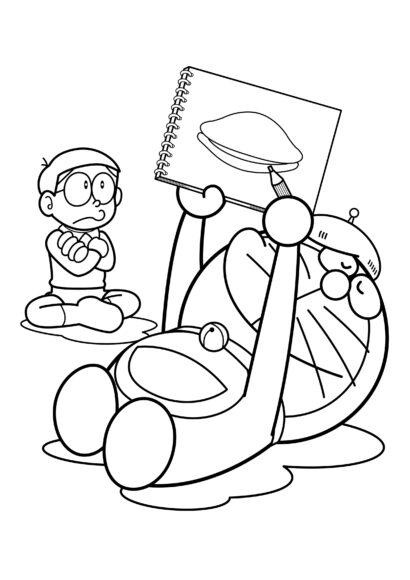 Tranh tô màu Nobita và Doremon đẹp nhất