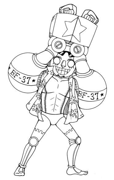 Tranh tô màu One Piece anh người máy