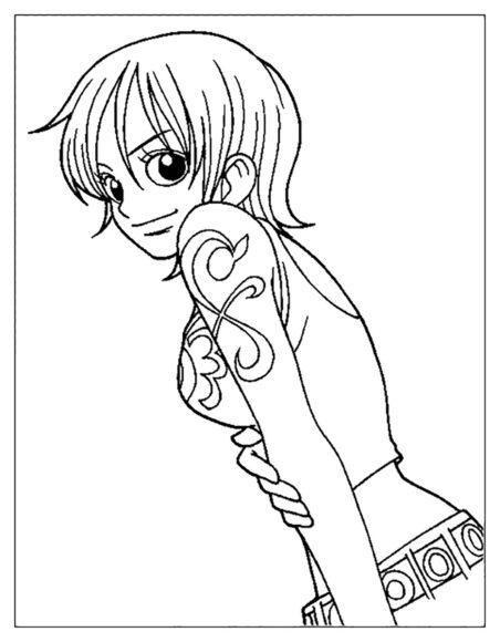 Tranh tô màu One Piece Nami