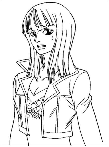 Tranh tô màu One Piece Nico Robin