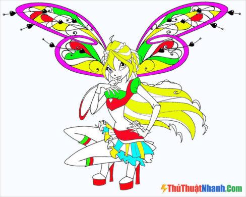 Tranh vẽ công chúa Winx