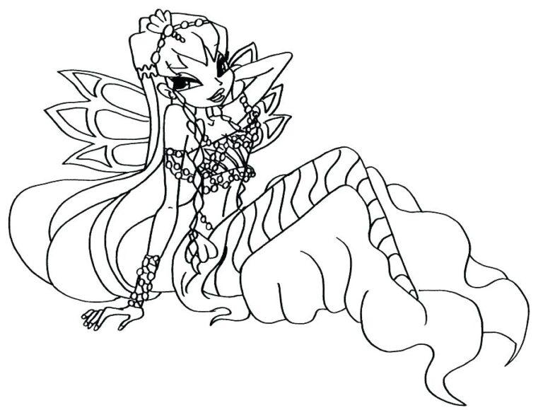 Tranh vẽ công chúa Winx dành cho bé tô màu