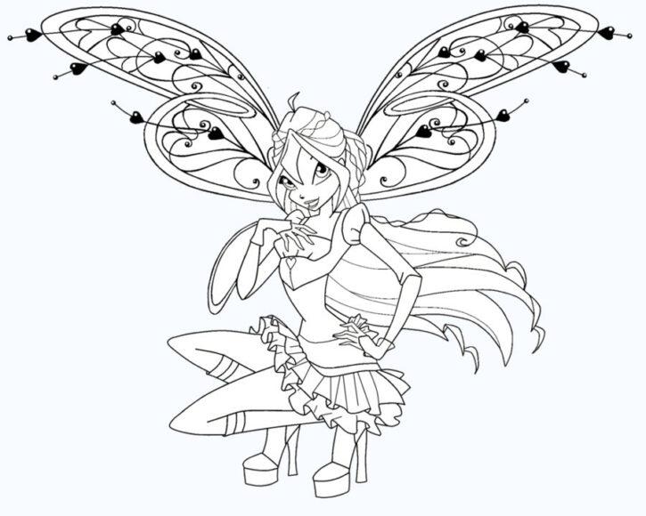 Tranh vẽ công chúa Winx xinh đẹp