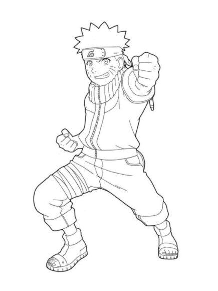 Ảnh vẽ Naruto cho bé tô màu