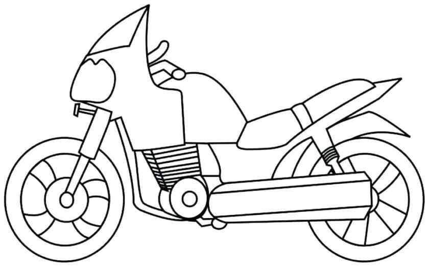 Ảnh vẽ tập tô xe máy đơn giản