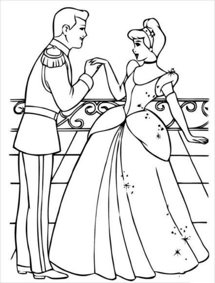 Hình ảnh công chúa lọ lem hạnh phúc cùng hoàng tử