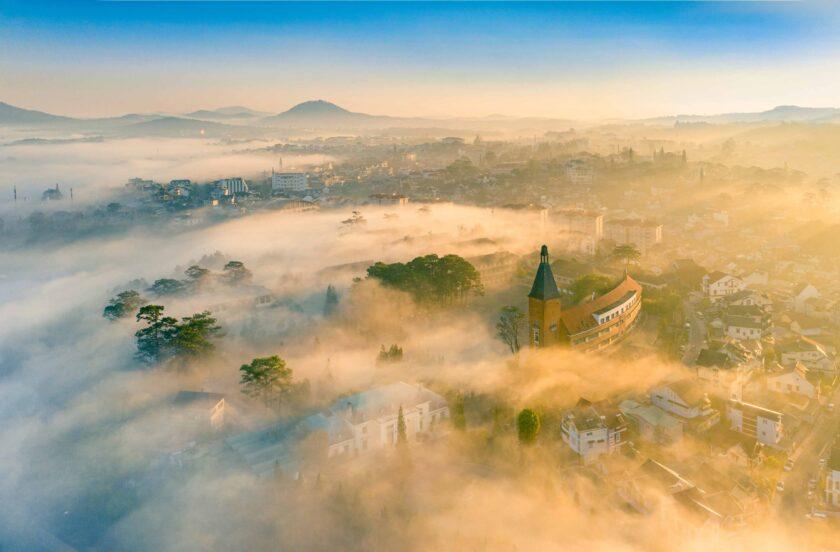 hình ảnh đẹp Sương Sớm - Đà Lạt - Lê Nguyên Huy