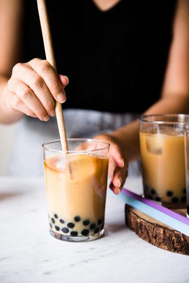 hình ảnh trà sữa đẹp tự pha