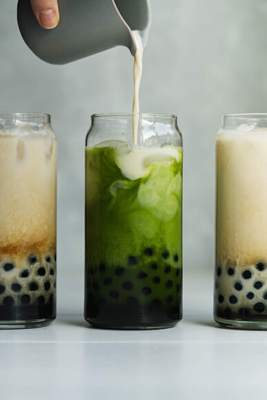 hình ảnh trà sữa đẹp vị trà xanh
