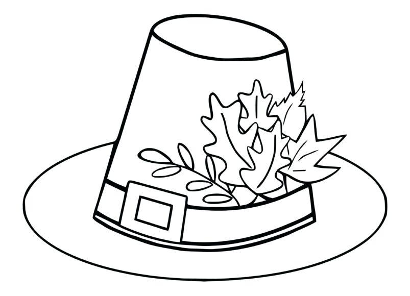 Hình vẽ cái mũ chưa tô màu