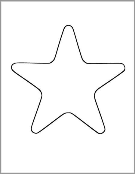 Hình vẽ ngôi sao đơn giản cho bé tô màu
