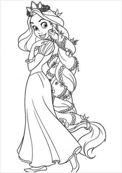 Hình vẽ tập tô công chúa tóc mây