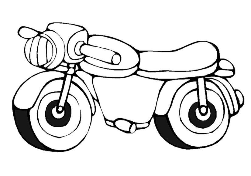 Hình vẽ xe máy cho bé tô màu