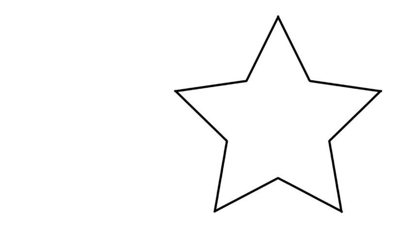 Mẫu tranh tô màu ngôi sao