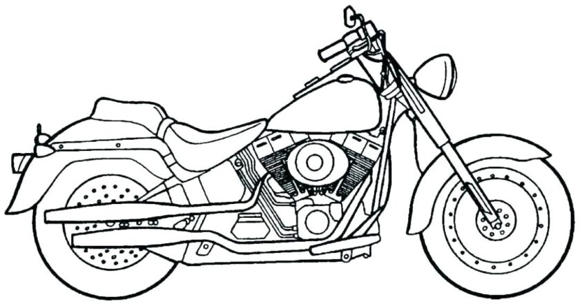 Mẫu tranh tô màu xe máy đẹp