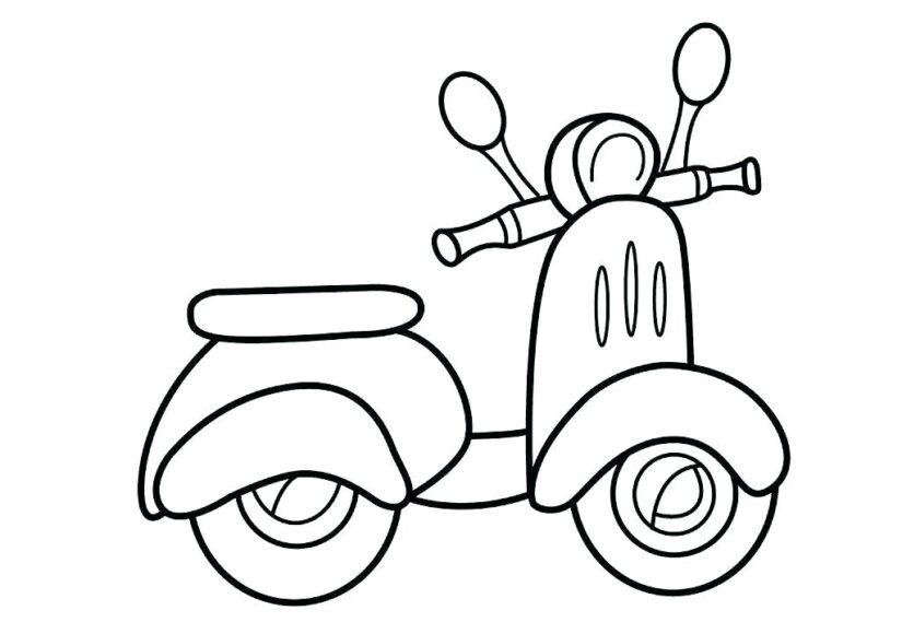 Mẫu tranh tô màu xe máy tay ga
