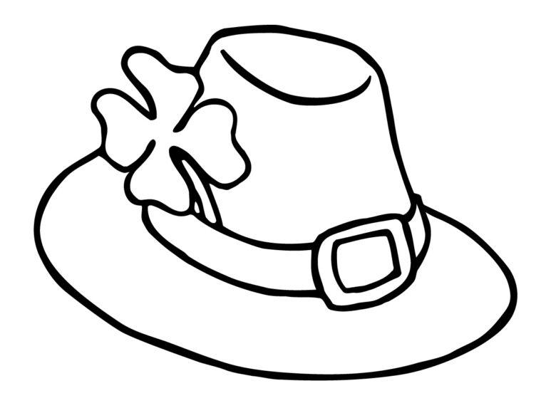 Mẫu tranh vẽ cái mũ cho bé tô màu