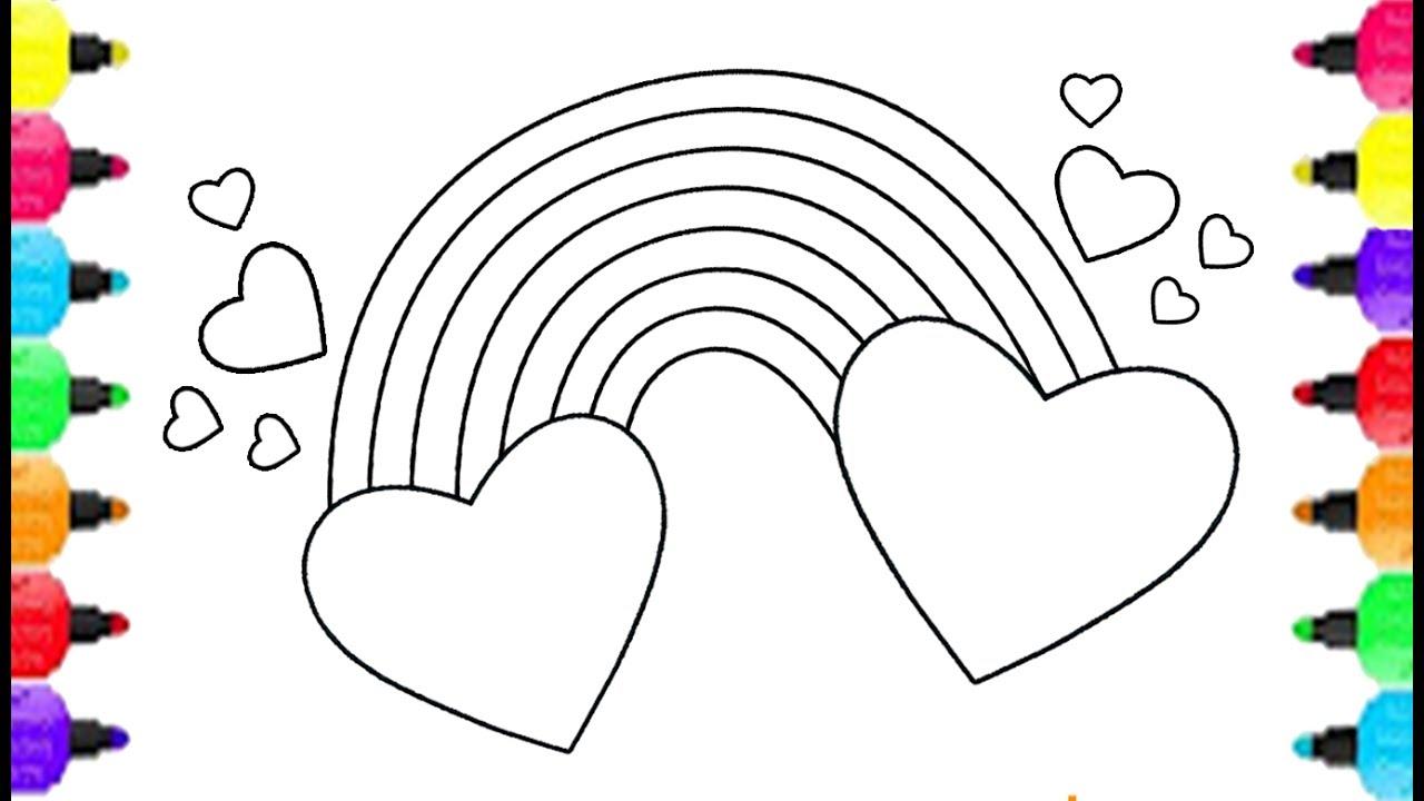 Tranh tô màu hình trái tim đẹp nhất cho bé yêu