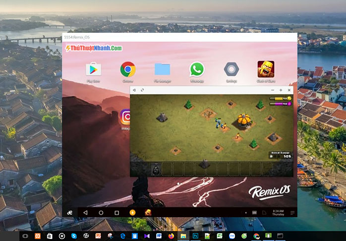 phần mềm giả lập android nhẹ - Remix OS Player