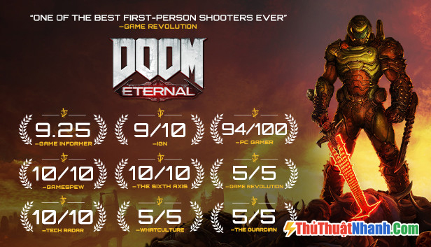 Top game bắn súng PC Doom Eternal