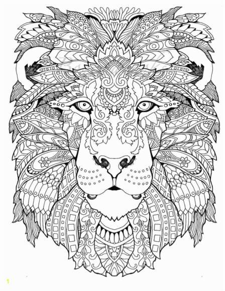 Tranh mặt con sư tử cho người lớn tô màu