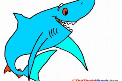 Tranh tô màu cá mập