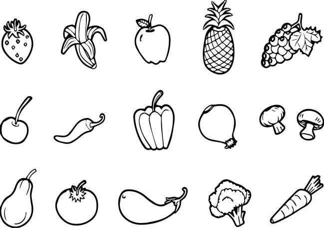 Tranh tô màu các loại rau củ quả