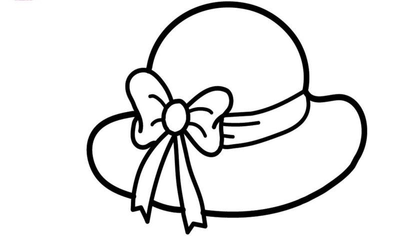 Tranh tô màu cái mũ dành cho bạn gái