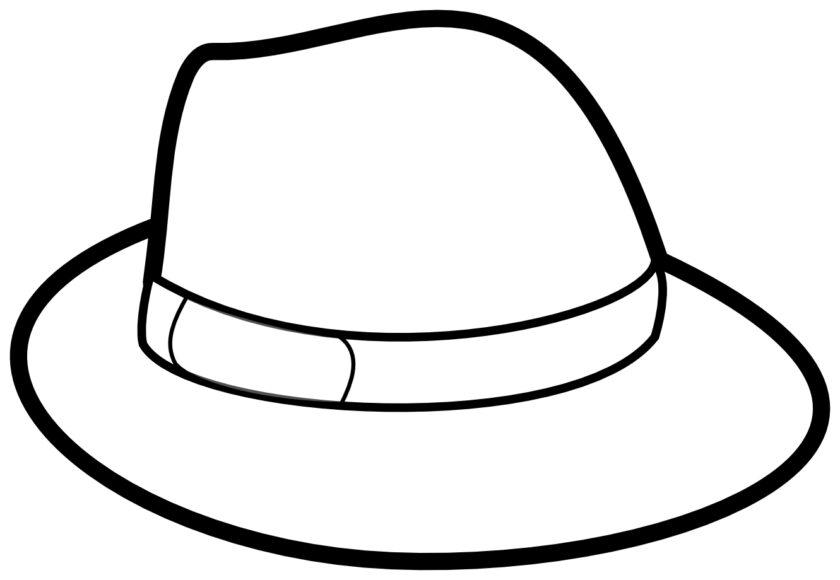 Tranh tô màu cái mũ đơn giản