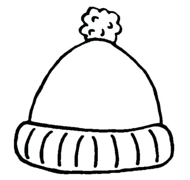 Tranh tô màu cái mũ len