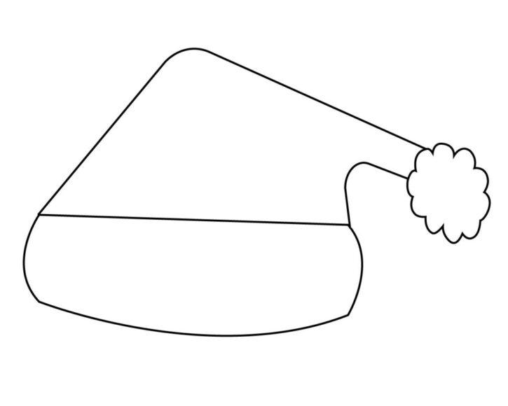 Tranh tô màu cái mũ Noel