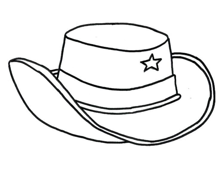 Tranh tô màu cái mũ vành cong