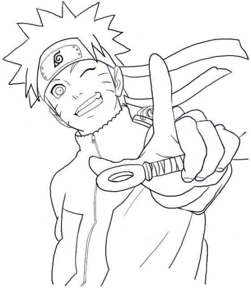 Tranh tô màu cho bé về chủ đề Naruto