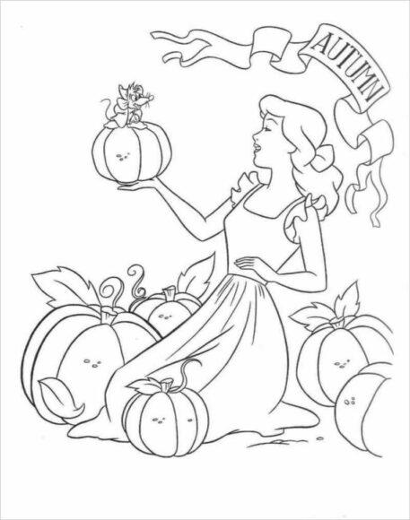 Tranh tô màu công chúa lọ lem và những quả bì ngô