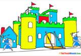 Tranh tô màu lâu đài