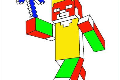 Tranh tô màu Minecraft