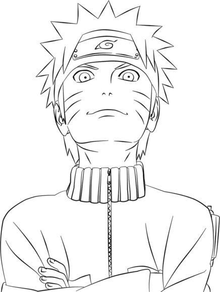 Tranh tô màu Naruto đẹp nhất cho bé tập tô