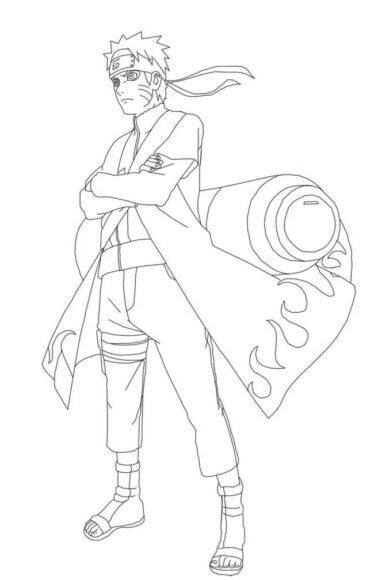 Tranh tô màu Naruto ngầu nhất